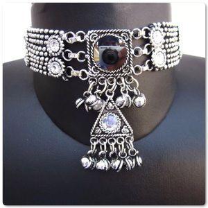 🆕Artisan Crafted Goth Boho Gypsy Choker Necklace